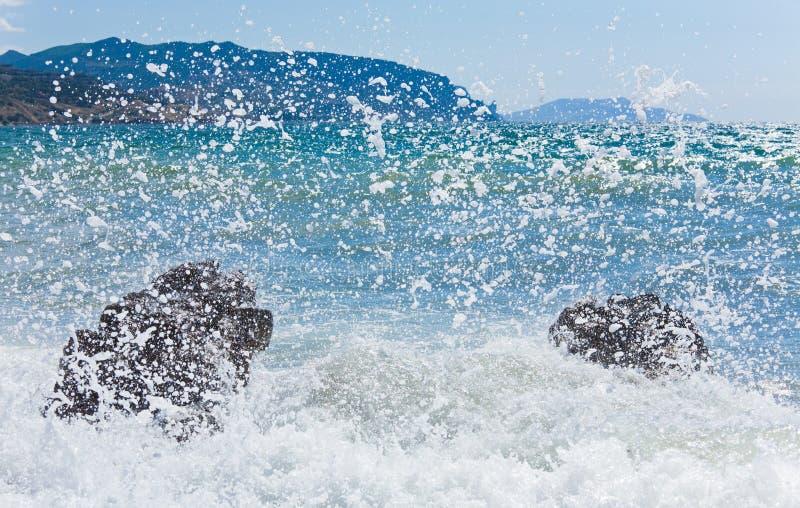 havsbränningwave royaltyfri bild