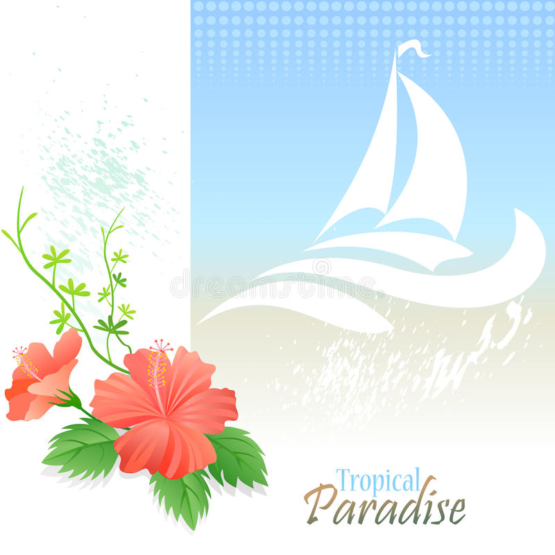 Havsdiagramserie - stränder och kryssning i Bahamas stock illustrationer