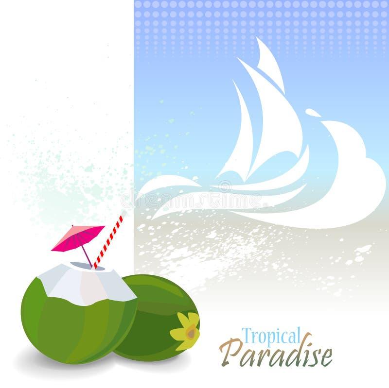 Havsdiagramserien - tyck om stranden och solen i Hawaii vektor illustrationer