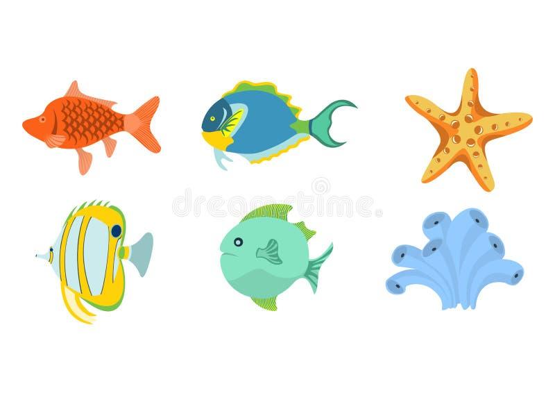 Havsdjur stock illustrationer