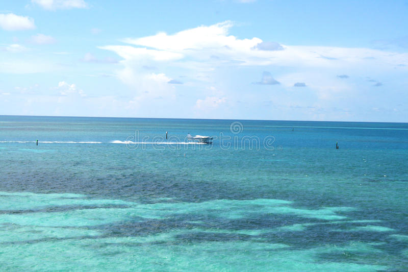 Havsikt i den torra Tortugas nationalparken royaltyfri fotografi