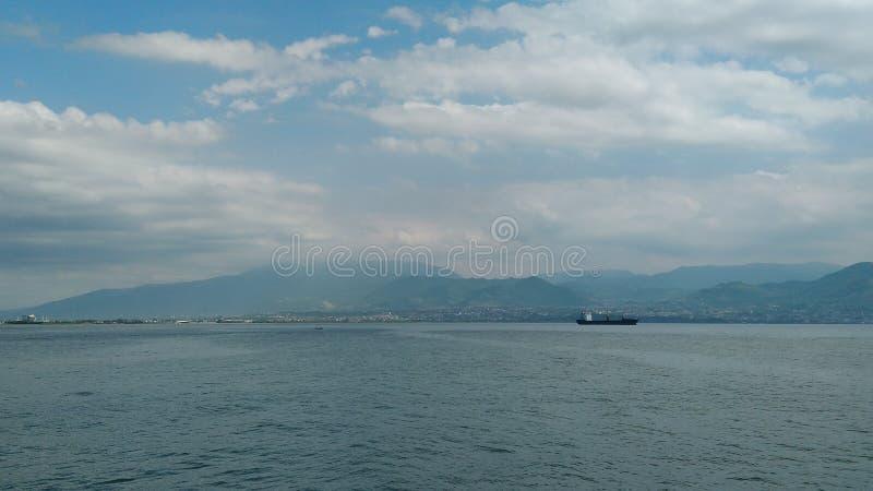 Havslandskapet av Kocaeli, Turkiet arkivfoto
