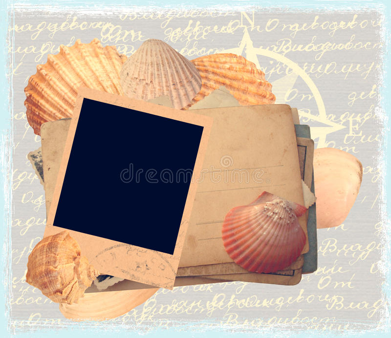 havsmalltema stock illustrationer
