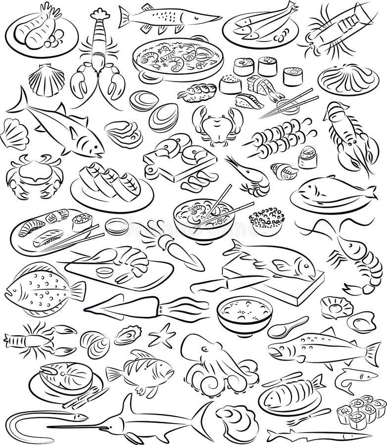 Havsmat vektor illustrationer
