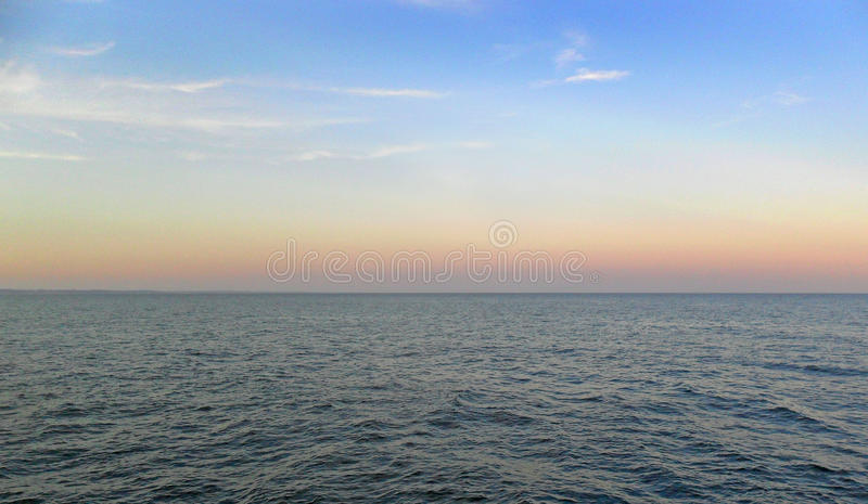 Havsnd-himmel royaltyfria foton