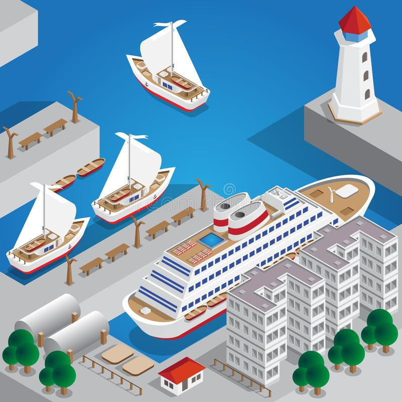 Havsport vektor illustrationer