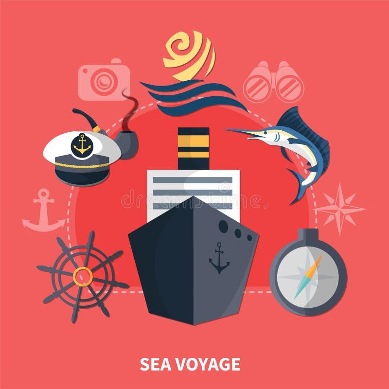 Havsresabegrepp vektor illustrationer