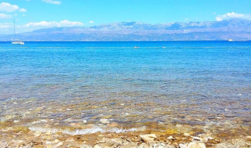 Havssikt från ön royaltyfri foto