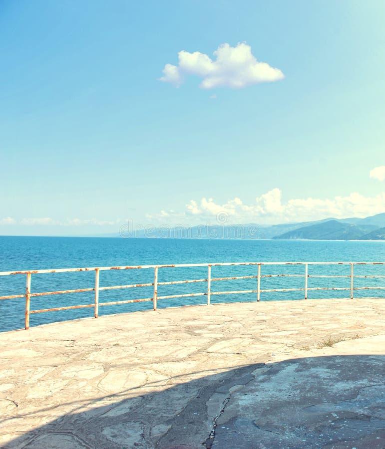 Havssikt från fyren arkivfoton