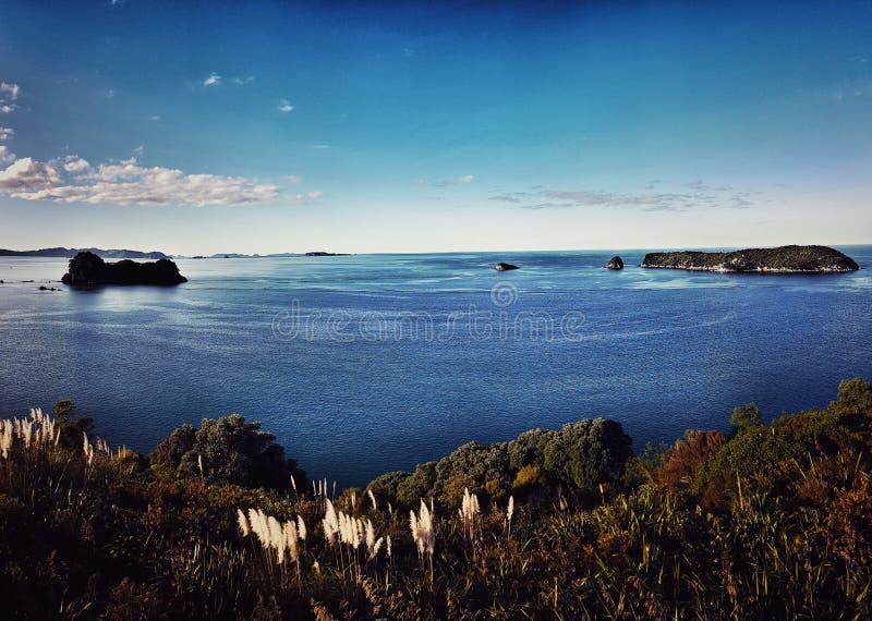 Havssikt i Coromandel, Nya Zeeland arkivbild
