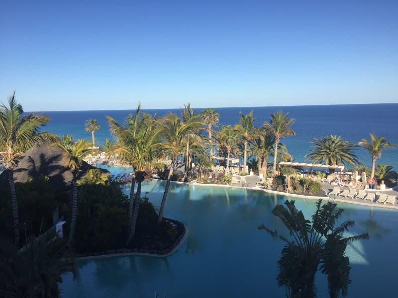 Havssikt i fuerteventura royaltyfri bild