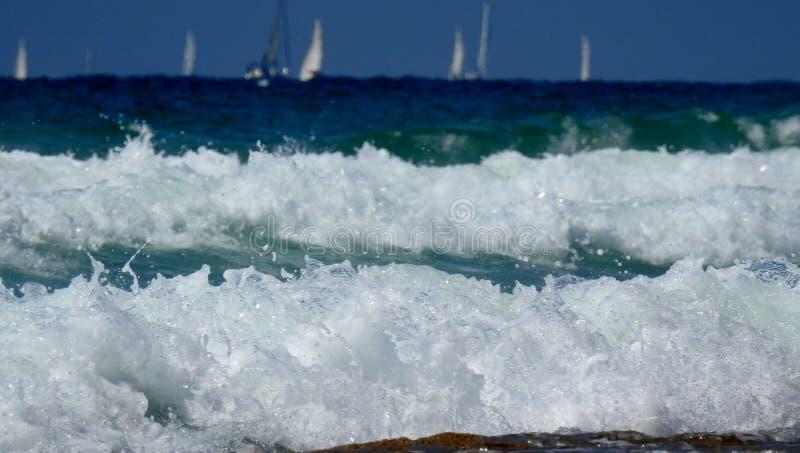 Havssikt i sommar royaltyfria foton
