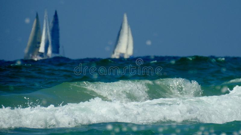 Havssikt i sommar royaltyfria bilder