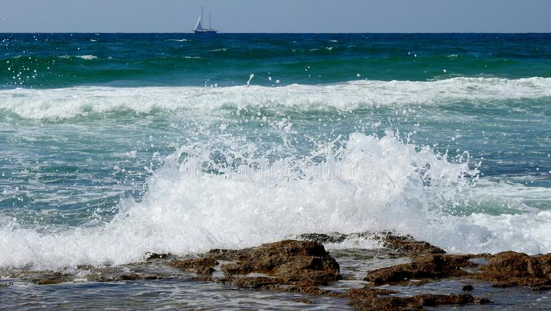 Havssikt i sommar royaltyfri foto