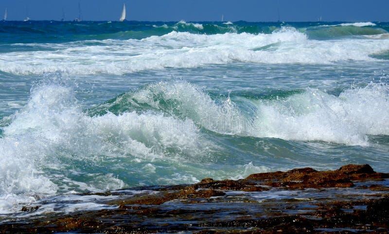 Havssikt i sommar royaltyfri bild
