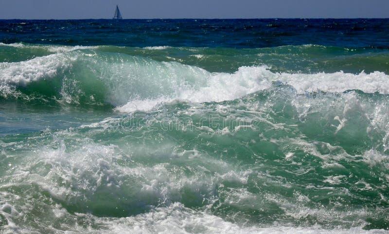 Havssikt i sommar royaltyfri fotografi