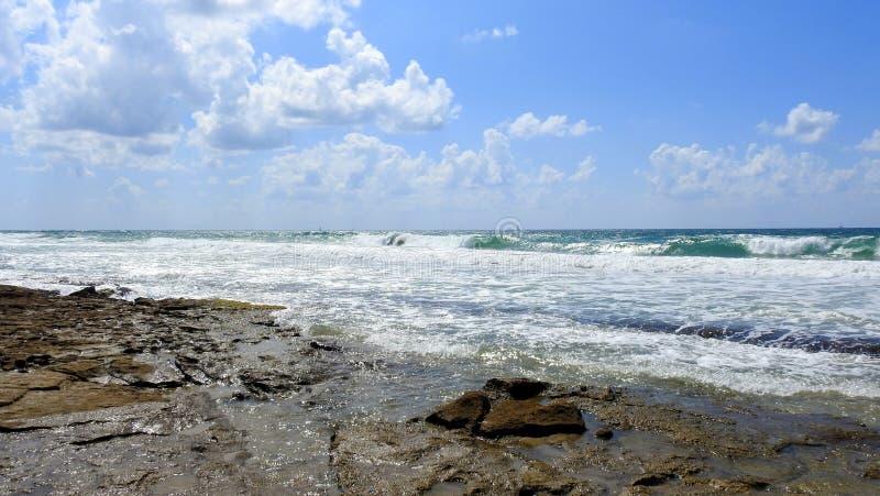 Havssikt i sommar arkivfoton