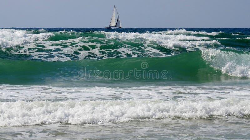 Havssikt i sommar arkivbild