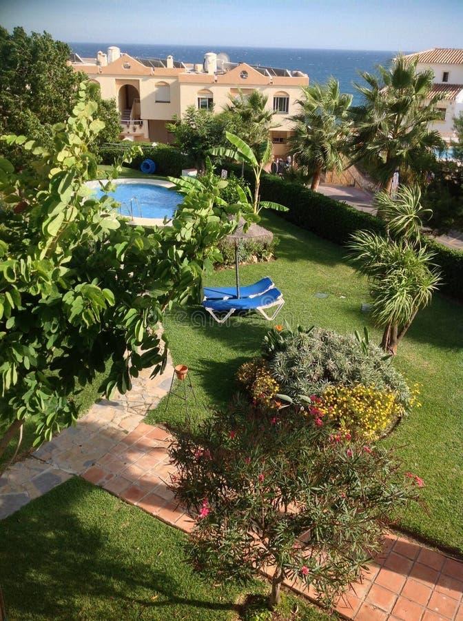 Havssikt - Malaga royaltyfri foto