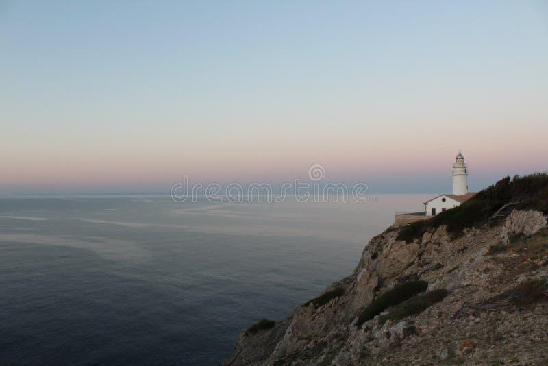 Havssikt norr Mallorca arkivbilder