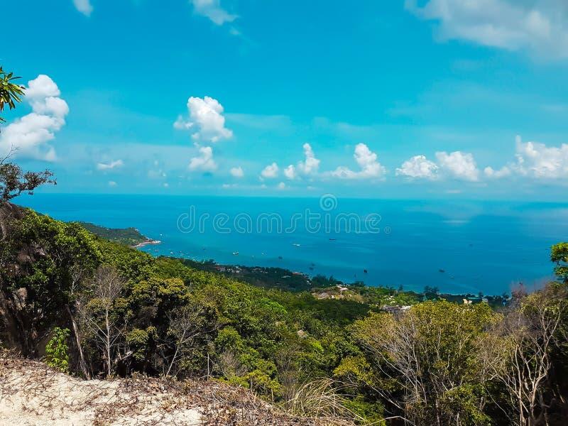 Havssikt på Koh Tao i Suratthani royaltyfri fotografi