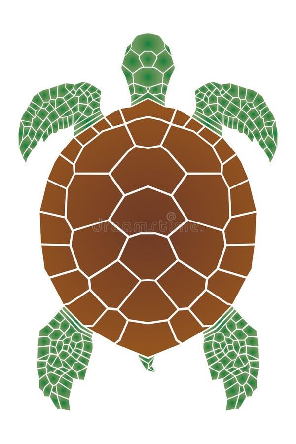 Havssköldpadda vektor illustrationer