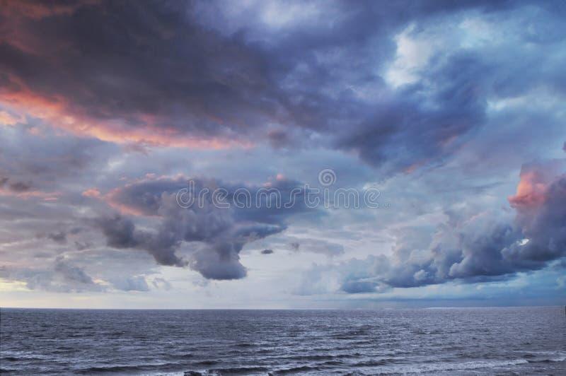 havssky royaltyfri fotografi
