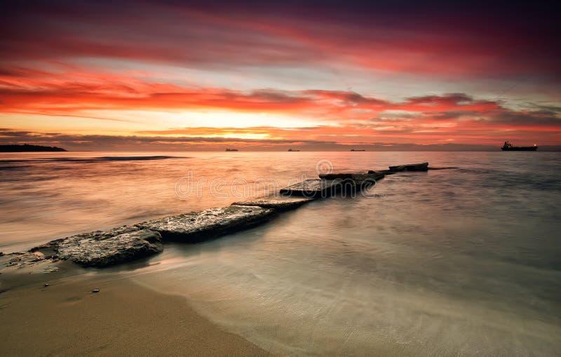 Havssoluppgång fotografering för bildbyråer
