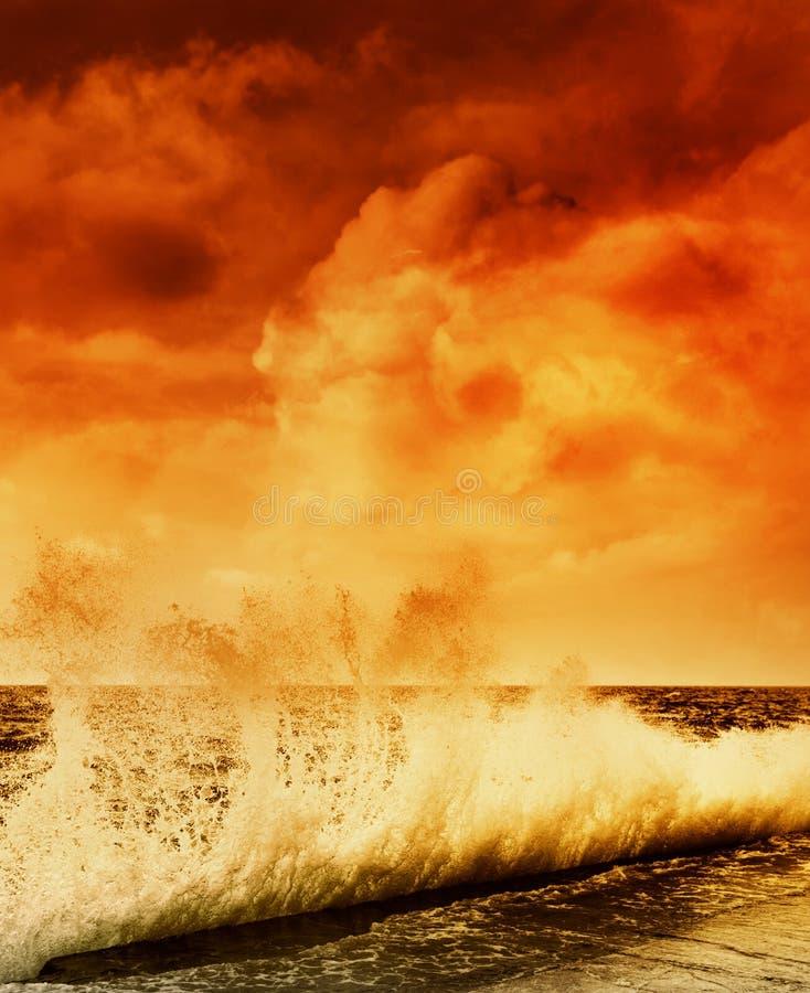 havstorm royaltyfria bilder