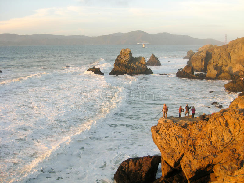 Havstrand, San Francisco, Kalifornien arkivfoto