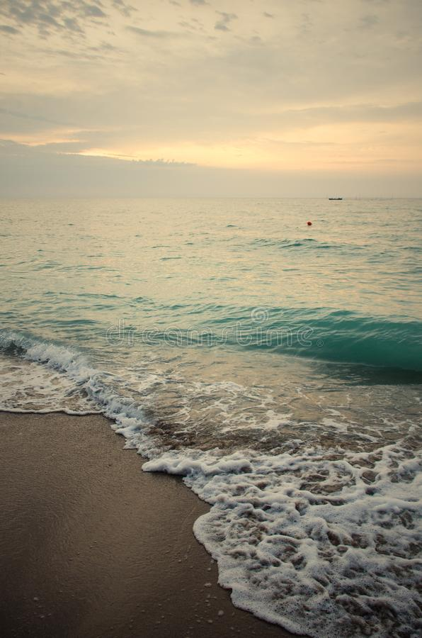 Havsvågor i Svarta havet royaltyfri fotografi