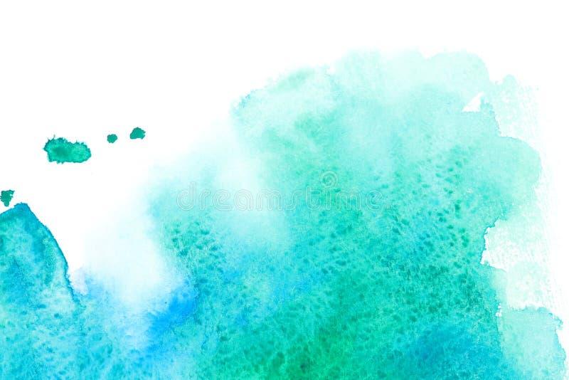 havsvattenfärgwave stock illustrationer