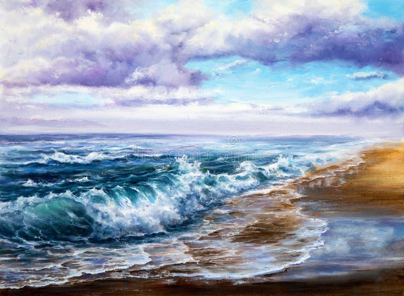 Havvågor och himmel fotografering för bildbyråer
