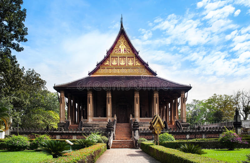 Haw Phra Kaew, No.1 attraction in Vientiane, Laos. Haw Phra Kaew (Emerald Buddha temple) is a former temple in Vientiane, Laos. Haw Phra Kaew was built between stock image
