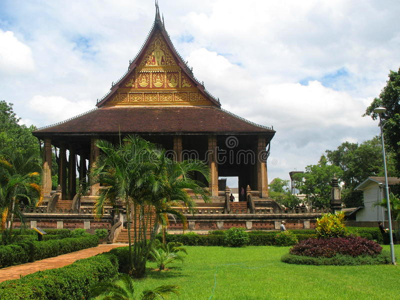 Haw Phra Kaew temple in Vientiane. Laos royalty free stock images