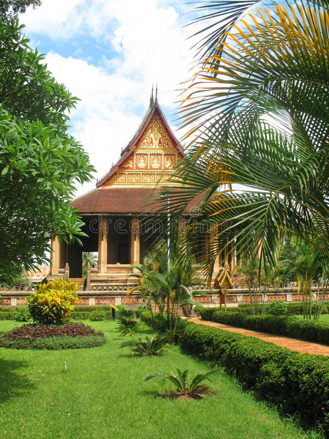 Haw Phra Kaew temple in Vientiane. Laos royalty free stock photo