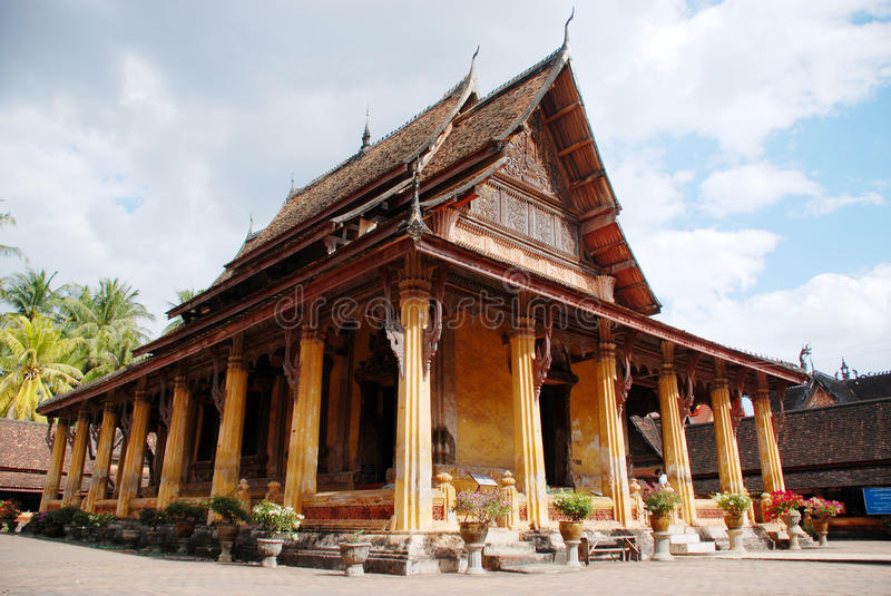 Haw Phra Kaew temple. In Vientiane Laos stock photography