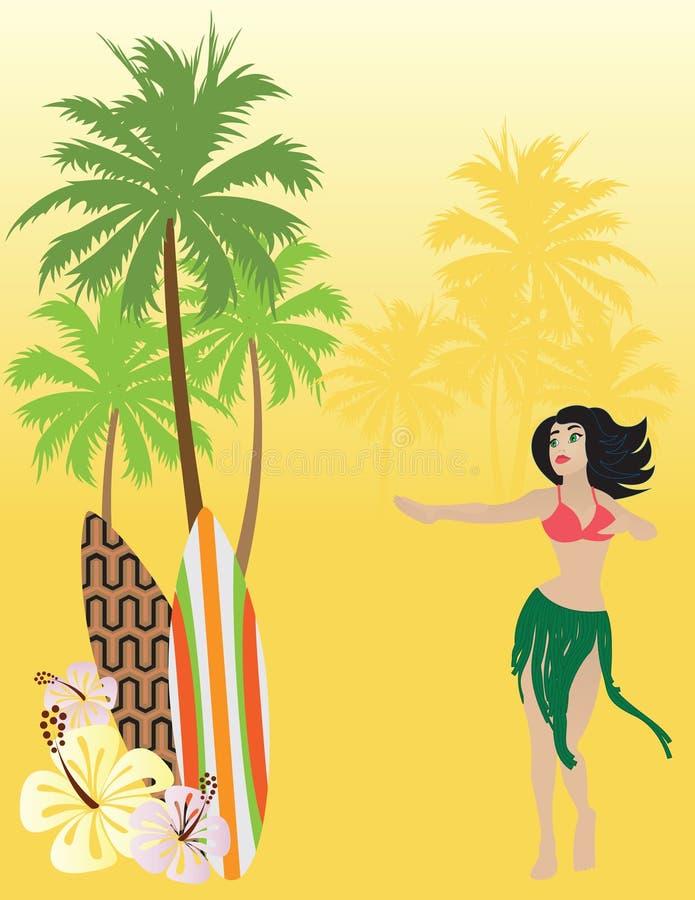 Hawaï stock illustratie