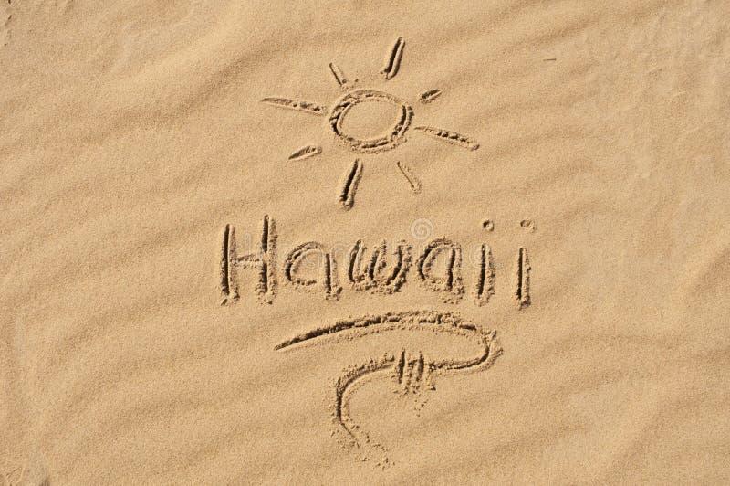 Hawaï in het Zand royalty-vrije stock fotografie
