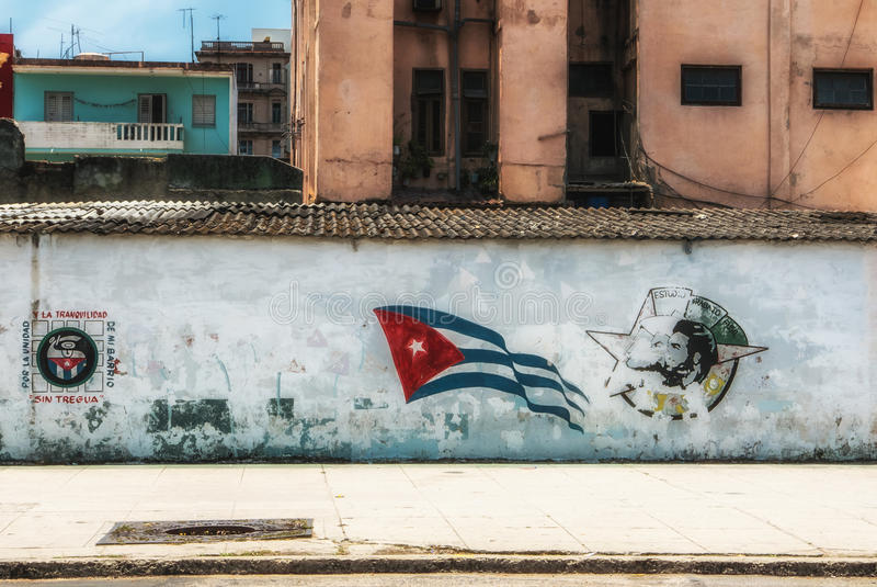 Hawańscy Kuba Młodzi Komunistyczni Ligowi graffiti obraz stock