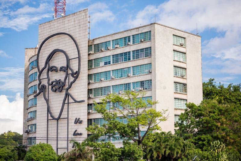 Hawański, Kuba, Listopad - 29, 2017: Rewolucja Kwadratowy portret, Hawański, Kuba obrazy stock