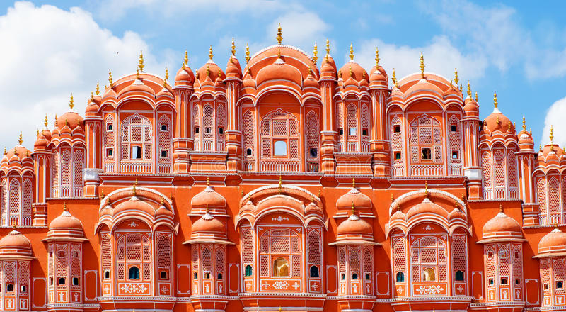 Hawa玛哈尔宫殿在斋浦尔,拉贾斯坦 免版税库存照片