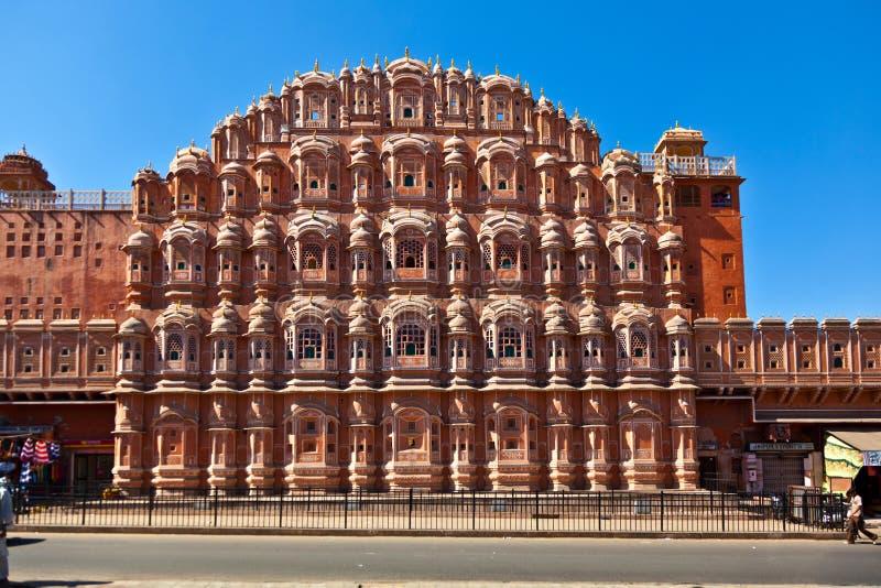 Hawa Mahal em Jaipur, Rajasthan, India imagens de stock