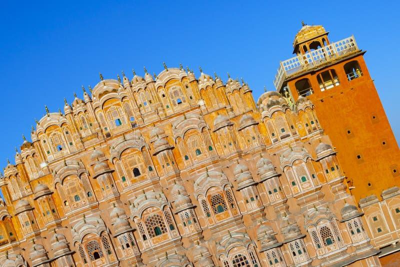 Hawa Mahal, het Paleis van Winden, Jaipur, Rajasthan, India stock foto's