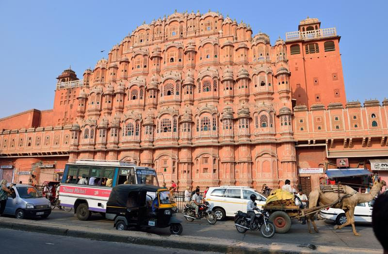 Hawa Mahal, Jaipur stock foto's