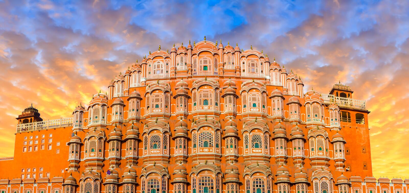 Hawa Mahal - Jaipur lizenzfreie stockfotografie
