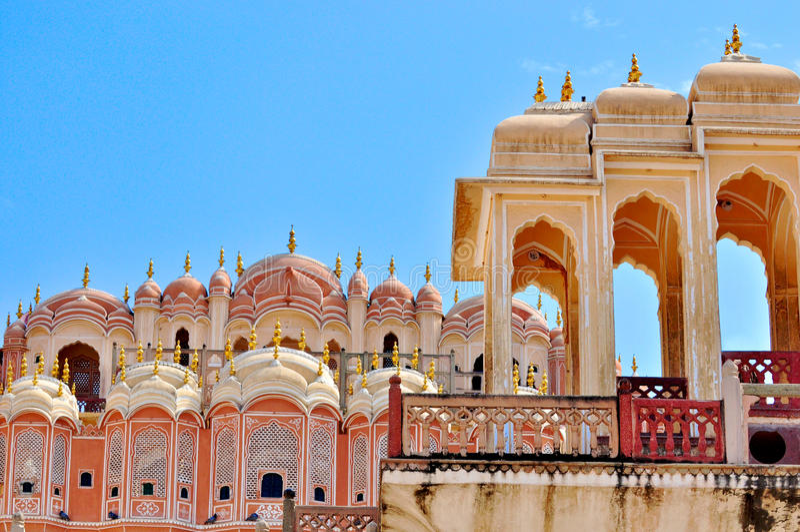 Hawa Mahal, Jaipur, Indien. lizenzfreie stockbilder