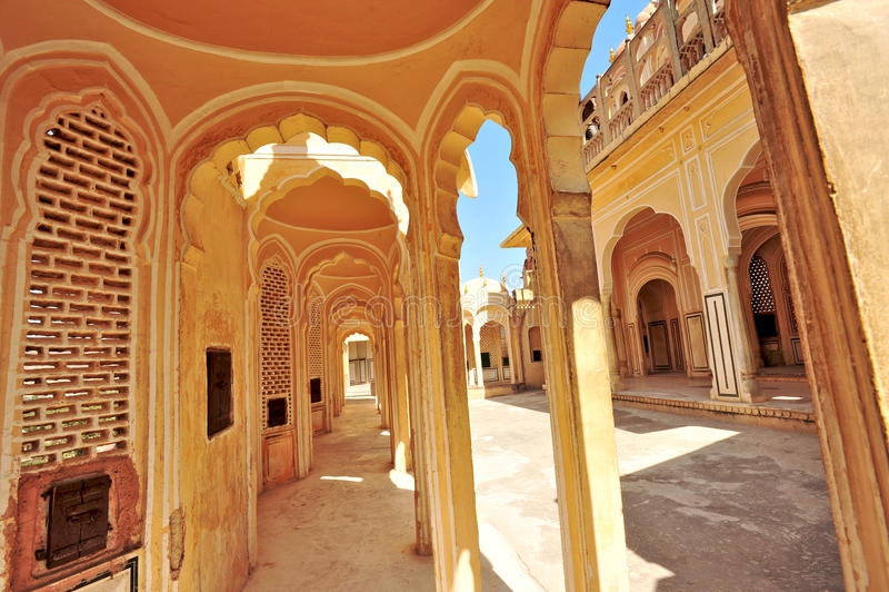 Hawa Mahal, Jaipur, Indien. stockbild