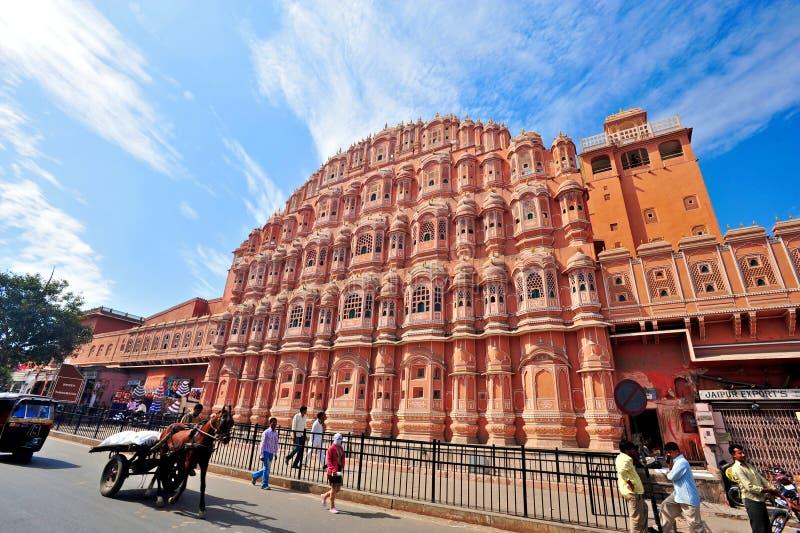 Hawa Mahal, Jaipur, la India. imágenes de archivo libres de regalías