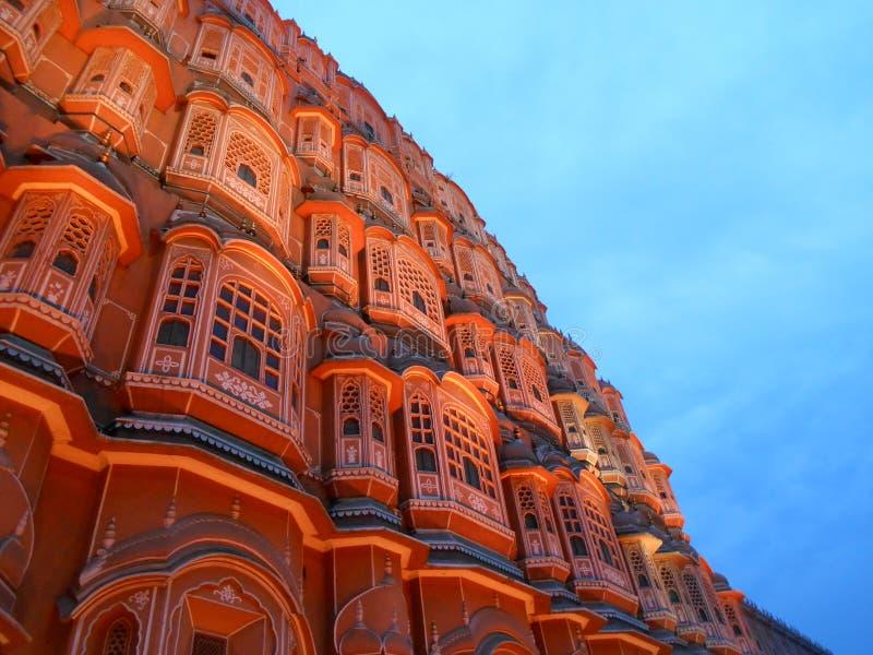 Hawa Mahal, Jaipur un giorno piovoso fotografia stock